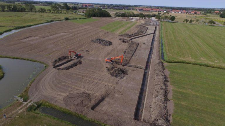 De Klamp: grondwerk fase 1 en 2 in De Zuidlanden te Leeuwarden 2018I16