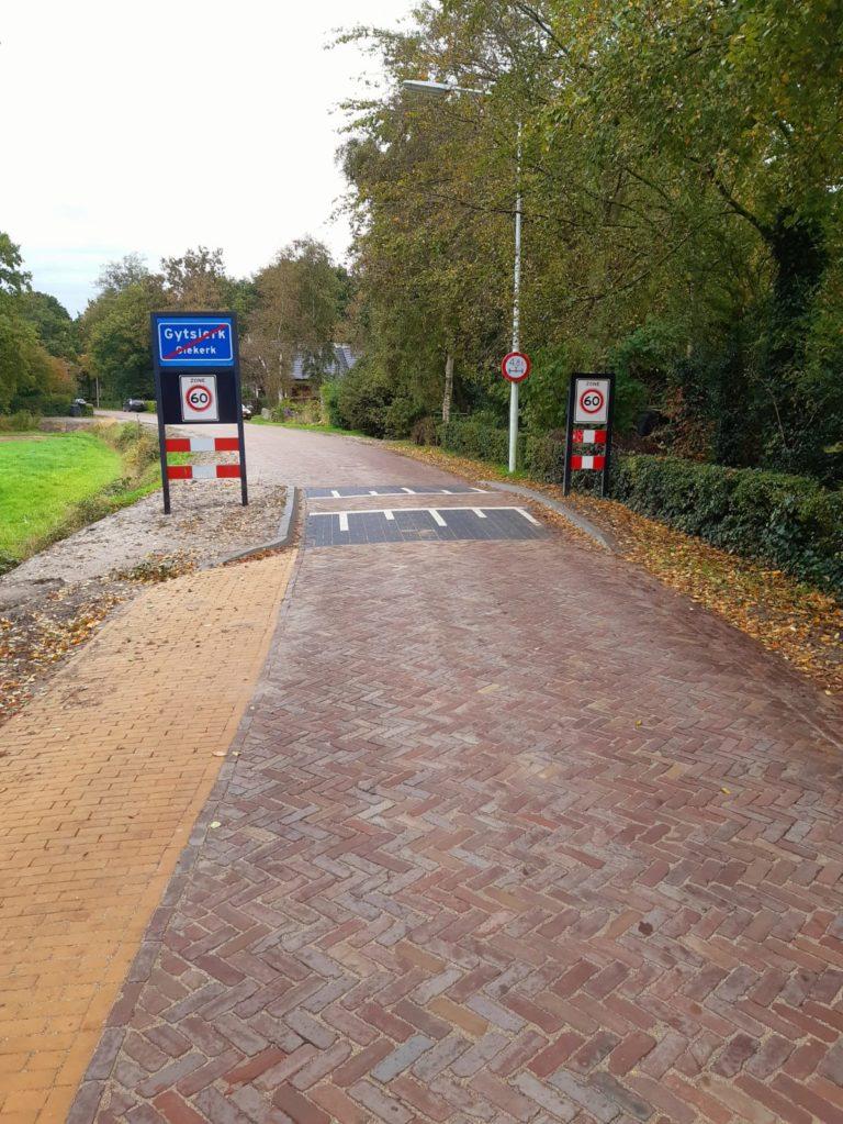 Herstraten Nieuwe Straatweg te Gytsjerk